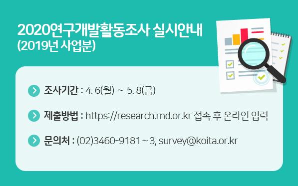 2020 연구개발 활동조사